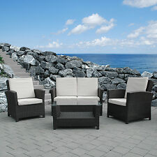 PATIO POLY RATTAN OUTDOOR FURNITURE SET CONSERVATORY BALCONY WICKER RESIN