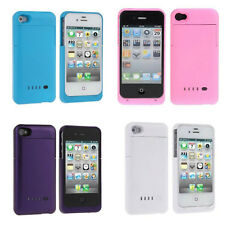 External Battery Charger Case Cover For iPhone 4 4s Rechargeable Many Colors