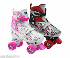RDS Trac Star Girls, Boys, Kids Adjustable Roller Skates Two Sizes 12-2 and 3-6