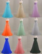 Strapless Bridesmaid Prom Dress Long Evening Formal Party Gown Plus Size T476