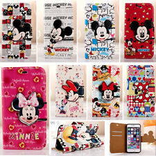 Newly Cartoon Mickey Minnie Leather Case Cover Skin For iPhone 6/6S 7/7 Plus