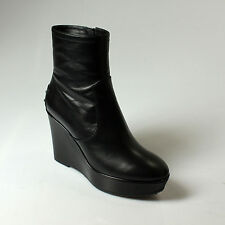 ANKLE BOOT WOMAN TOD'S WITH WEDGES LEATHER BLACK - 37E4