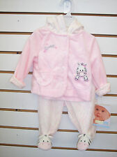 Infant Girls Vitamins Baby $36 2pc Pink Zebra Outfit Size 3 Months - 9 Months