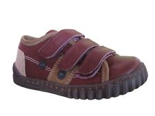 Petasil Gary Boys Red Leather and Suede Style Shoes Various Sizes