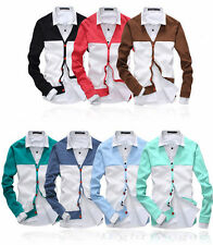 Men's Casual V-neck Knitted Cardigan Button Front Jumper Sweater Slim Fit Tops f