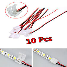 10Pcs PCB Cable 2 Pin LED Strip Light Connector 3528/5050 Single Color Adapter