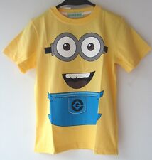 NEW KIDS BOYS GIRLS  DESPICABLE ME TEE TOP T-SHIRT SHIRT 110, 140  YELLOW  X'MAS