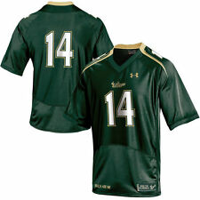Under Armour No. 14 South Florida Bulls Youth Green Replica Football Jersey