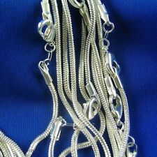 Wholesale Lot/ 5pcs The Silver Filled Snake Chain Necklace 16-30 Inch 1.2mm
