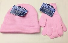 Rugged Wear Girls Acrylic Knit Beanie Hat & Glove Set, Multicolor One Size