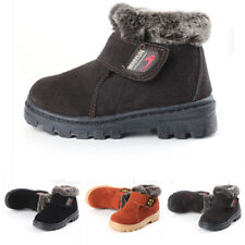 New Girls Boys Winter Warm Boots Kids Children Cotton Leather Shoes Snow Boots