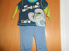 """Baby Boys 2 Piece Outfit, """"Abominably Cute"""" on front, George, So Cute!"""