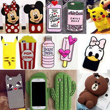 3D Cartoon Soft Silicone Phone Case Back Cover Skin For Apple iPhone 7/7 Plus