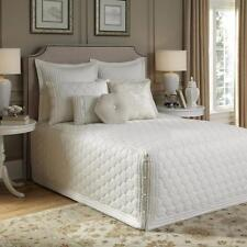 Beautiful Soft Ivory Elegant Tailored Fitted Quilted Luxury Cotton Bedspread
