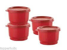 Tupperware Snack Cups - Set of 4 - RED - BRAND NEW