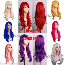 "Long Hair Full Wig Wavy Bouncy Synthetic Anime Cosplay Party Sexy Wigs 24""+Cap"