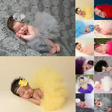 Newborn Toddler Baby Girl New Cute Tutu Skirt Headband Photo Prop Costume Outfit