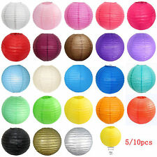 "Lot of 5/10 PCS 8""Chinese Paper Lantern Wedding Party Decoration Lamp Shades Set"