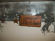 Wood Sign GIVE THANKS fall harvest decor Signs Autumn fall Country decor sign