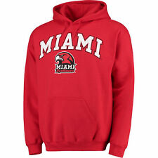 Miami University RedHawks Red Campus Pullover Hoodie