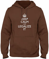 Men's Keep Calm And Legalize It Hoodie Marijuana 420 Cannabis Sweatshirt