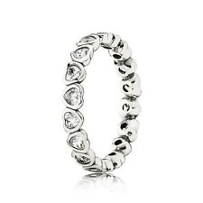 PANDORA Sparkling Heart Ring 190897CZ Authentic Pandora Charm Size 52 54