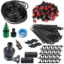 Self Watering Drip Garden Plant Dripper 50-100ft Blank Hose Irrigation System