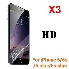 3PCS Front/Back Clear Film HD LCD Screen Protector For iphone 7 6s Plus 5S SE