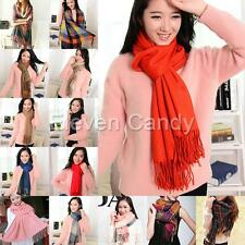 Warm Winter Fashion Women Long Cashmere Wool Scarf Large Shawl Plaid Hip Scarfs