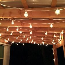 Patio String Lights Bulbs Outdoor Lighting 100 Ft. Vintage Garden Backyard Decor