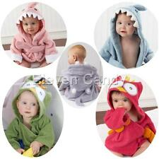 Cute Baby Boy Girl Bathrobe Dressing Gown Wrap Bath Hooded Towel Robe Washcloths