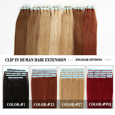 100%Real Human Hair Extensions Full Head Remy Women Clip in Hair Extensions 100g