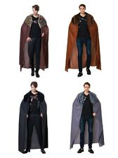 MEN'S ONE SIZE JOHN SNOW DELUXE CAPE WITH PLUSH COLLAR FANCY DRESS COSTUME