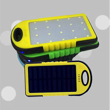 5000mAh Solar Waterproof External Power Bank Battery USB Charger for Cell Phones