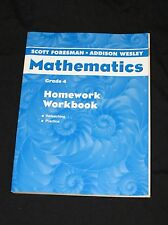 Scott Foresman-Addison Wesley Mathematics Grade 4 Homework Workbook - FREE SHIP