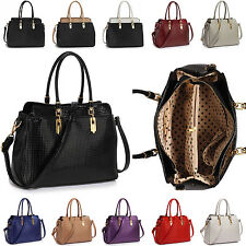 New Ladies Patent Leather Handbag Tote Womens Shoulder Bag Cross Body Designer