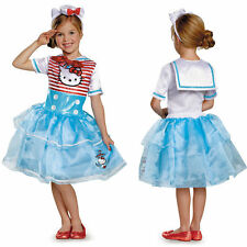 New Disguise Girls Hello Kitty Sailor Deluxe Tutu Halloween Costume 4/6X 7/8