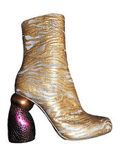 Dries Van Noten  Runway Gold Boots $ 720