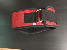 RCG Weight Lifting Belt Back Support Strap Gym Power Fitness Training Red Velcro