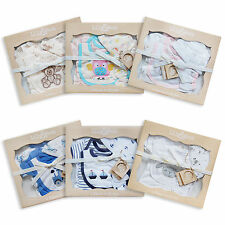 Baby Outfit Sets 5 Piece Layette Boys Girls Unisex Bear Rabbit Sheep Gift Boxed