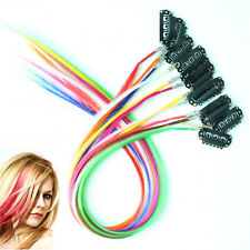 12pcs/pack Clip In Solid Multicolour Grizzly Rooster Feather Hair Extensions