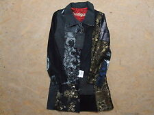 BNWT WOMEN'S DESIGUAL DARK NIGHT COAT JACKET SIZE 42 GENUINE MINT