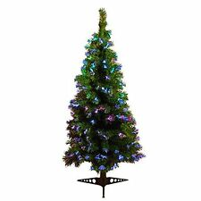 2FT 4FT 6FT GREEN COLOUR CHANGING FIBRE OPTIC CHRISTMAS XMAS TREE