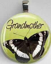 Handmade Interchangeable Magnetic Grandmother Butterfly #14 Pendant Necklace
