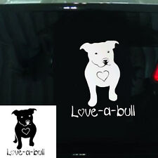 Love-a-bull Vinyl Decal Sticker Car Window Bumper Wall I My Pitbull Dog Adpot