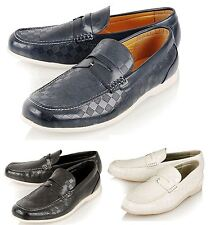Mens Stylish Pu Leather Loafers Moccasins Casual Slip On Shoes Size