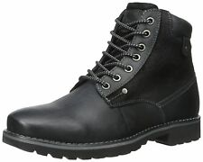 Steve Madden Casual Fashion Leather Canterr Black Mens Shoes Boots Sz 9.5