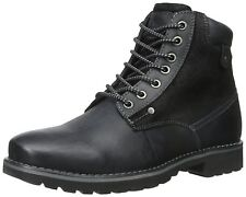 Steve Madden Casual Fashion Leather Canterr Black Mens Shoes Boots Sz 7.5