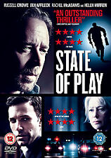 State Of Play (DVD, 2011) - RUSSELL CROWE - BEN AFFLECK - FREE UK DELIVERY