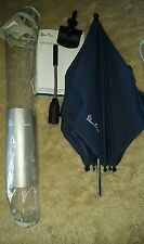 Brand new, Silver Cross Surf parasol/sun umbrella with clip, in navy blue